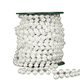 ROSENICE Perlengirlande 10m Perlen Ketten Deko Perlenschnur Band für Hochzeit Braut Party Dekoration (Weiß)