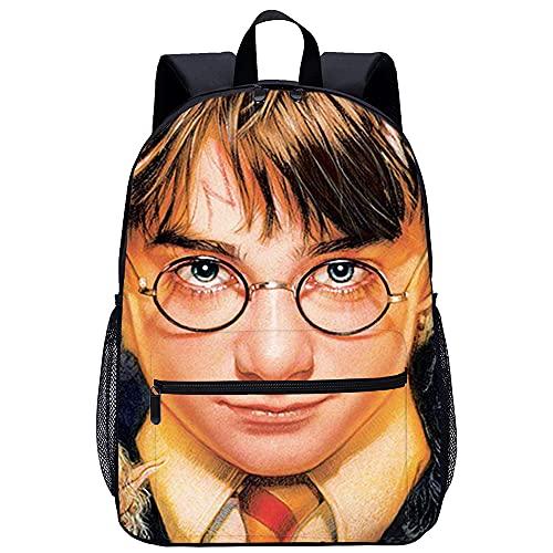 Visionpz Harry Potter Mochila escolar Movie characters Mochila informal impresa en 3D Mochila para portátil Mochila clásica Mochila de lona