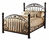 Hillsdale Furniture Chesapeake Bed Set with with Rails, Queen, Rustic Old Brown