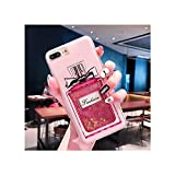 Misscany Compatible for Liquid Dynamic Quicksand Glitter Phone Case for iPhone 5 5S Se 6S 6 7 8 Plus X Xr Xs Max Protective Nail Polish Sequins Cover,for iPhone 8,Perfume Bottle
