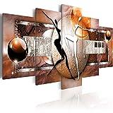 murando - Cuadro en Lienzo 200x100 cm Abstracto Impresión de 5 Piezas Material Tejido no Tejido Impresión Artística Imagen Gráfica Decoracion de Pared Africa Mujer 020101-221