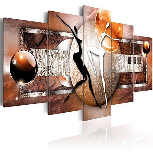murando - Cuadro en Lienzo 200x100 cm Abstracto Impresión de 5 Piezas Material Tejido no Tejido Impresión Artística Imagen Gráfica Decoracion de Pared Arte 020101-221