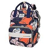 Aidou Bedruckter Rucksack, Handtasche, großes Fassungsvermögen, isolierte Babyflaschen-Tasche, wasserdichte Reisetasche, Stil 5,