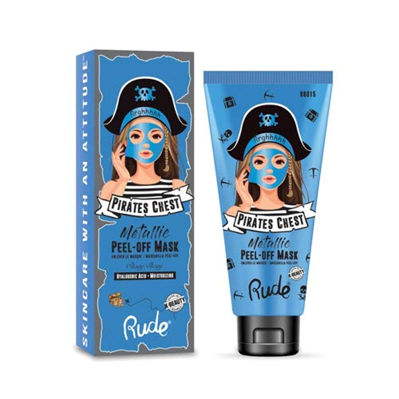 オッズオッズ征服する(6 Pack) RUDE? Pirate's Chest Metallic Peel-off Mask - Pillage Village (並行輸入品)