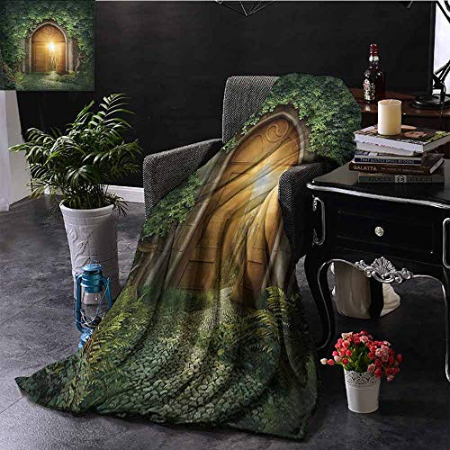 GGACEN Digital Printing Deken Afbeelding van Dark Fantasy Landscape met Sunbeams over Ocean Seacoast Cliff Mountain Zachte en comfortabele slaapbank