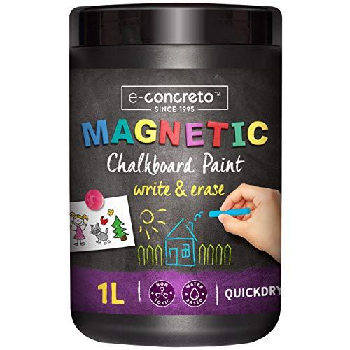 Pittura Lavagna Magnetica | Vernice Magnetica Nero 1000ml + Gesso