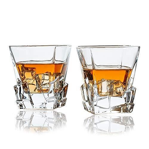 SkySnow® Vasos de Whisky, Juego de 2 Vasos de Whisky, Vaso de...