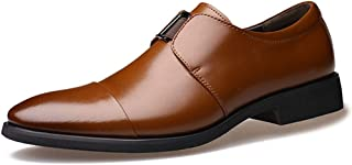 [QIFENGDIANZI] フォーマル ビジネスシューズ メンズ 紳士靴 大きいサイズ 通学 通勤 消臭 軽量 通気性 防滑 革靴 歩きやすい モンクストラップ 24.0cm-27.0cm