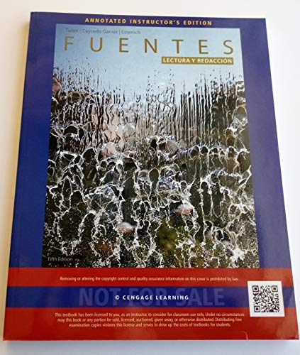 Fuentes Lectura Y Redacción Fifth 5th Edition ANNOTATED INSTRUCTOR'S EDITION