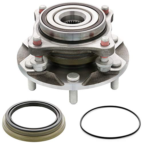 [1-Pack] 4110446 - [4WD/4x4 Model] FRONT Wheel Hub & Bearing Assembly Compatible With Tacoma, 4Runner, FJ Cruisers, GX460, GX470 [Cross Reference: 950-001, 515040]