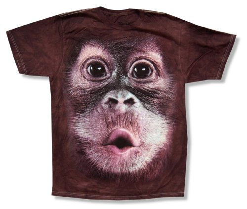 Mountain Ape Brown Tie Dye Adult T Shirt (Small)