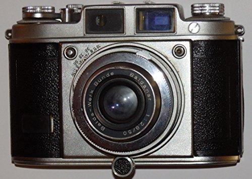 BALDA - Kleinbildkamera 24 x 36 mm - Kleinbildfilm 135 incl. Objektiv Balda-Werke Bünde Baldanar 1: 2.8/50 / Springtubus Verschluss PRONTOR 250 SVS ## Sammlerstück - Kamera löst aus - by LLL ##