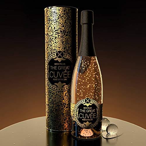 The Great Cuvée Rosé Extra Dry 12.5% (1 x 0.75 l) - bester Schaumwein mit 23 Karat reinem Blattgold - Champagner war gestern! Jetzt komme ich :) BLUBB BLUBB