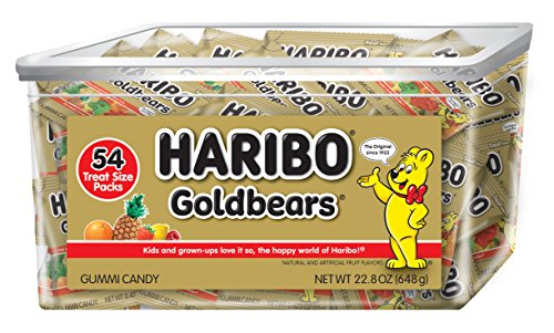 Haribo Goldbears Original Flavor Tub, Individually Wrapped, 54 Count per pack, 22.8 Ounce by Haribo of America, Inc.