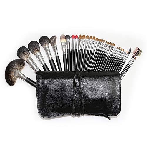 XMSIA Ensembles de Pinceaux de Maquillage Poignée Jaune Pinceau à lèvres Maquillage Outil Pinceau beauté Kit 32pcs pinceaux de Maquillage Ensembles Professionnel (Color : Black, Size : One Size)