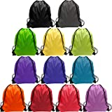 Drawstring Backpack Bags Bulk 24 Pieces Nylon Drawstring Bag Sring Backpack Bags Sport Gym Sack Drawstring Backpack Bag...