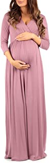 Women's Wraped Ruched Maternity Dress - Made in USA