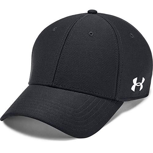 Under Armour Blank Blitzing Cap, sportliche Cap, komfortable Kappe mit integriertem Schweißband Herren, Black / White , L/XL
