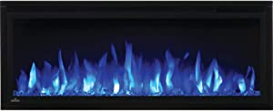 Napoleon Entice Series Wall Hanging Electric Fireplace, 42 Inch, Black