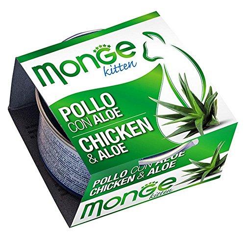 Monge - Nourriture pour Chats, Poulet/Aloe 80 g