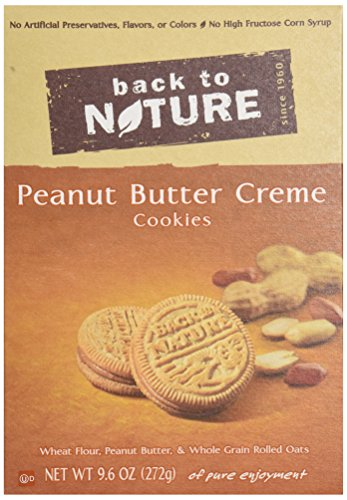 Back to Nature Cookies, Non-GMO Peanut Butter Creme, 9.6 Ounce