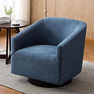 Comfort Pointe Geneva Cadet Blue Wood Base Swivel Chair