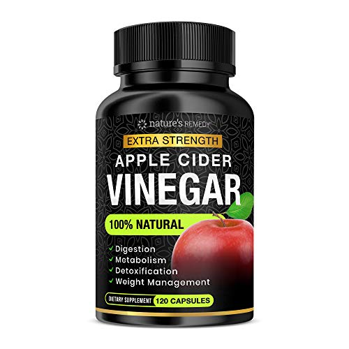 100% Natural Raw Apple Cider Vinegar Capsules (1500 mg | 120 Capsules) Pure Apple Cider Vinegar Weight Loss Pills with Cayenne Pepper for Fast Detox Cleanse, Appetite Suppressant, Bloating Relief