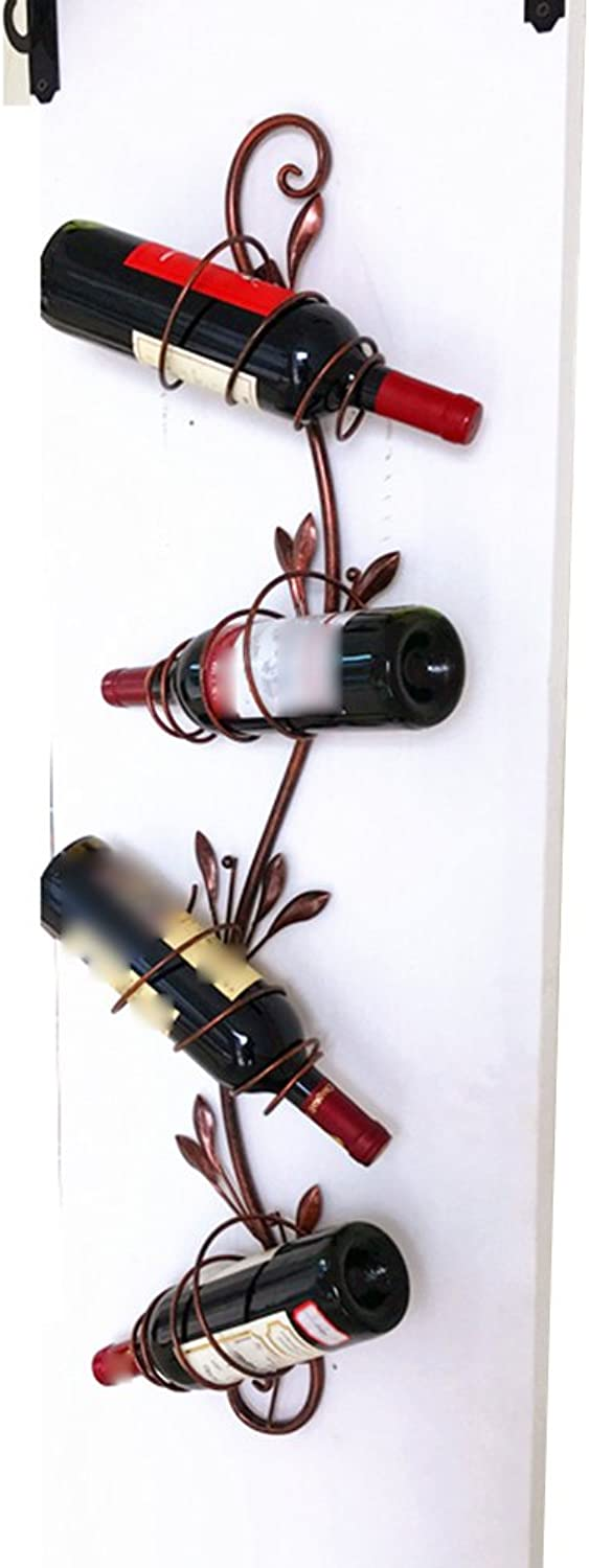 LBYMYB Continental On The Wall Wine Rack Wall Hanging Wine Cabinet Wine Rack Decoration Wine Rack Wine Rack (color   Brown, Size   20  95cm)
