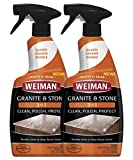 Weiman Granite Cleaner and Polish - 2 Pack - 24 Ounce - Streak-Free, pH Neutral Formula for Daily Use on Interior and Exterior Natural Stone
