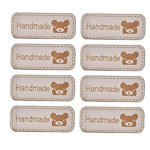 50pcs Leather Labels Rectangle Tags Knitting Tags Handmade Sewing Labels Tags for Clothing Accessories