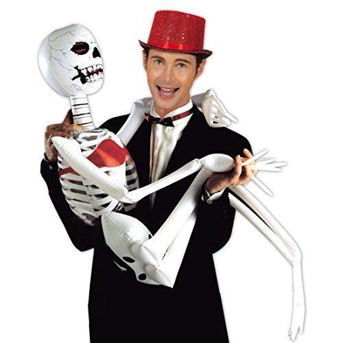 NET TOYS Squelette Gonflable Halloween os Horreur déco décoration effrayante déco effrayante décoration d'halloween gonflant