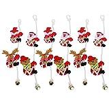 Xndz Papá Noel trepador, Decoraciones navideñas, 3 Juegos de decoración de Interior al Aire Libre para Puerta