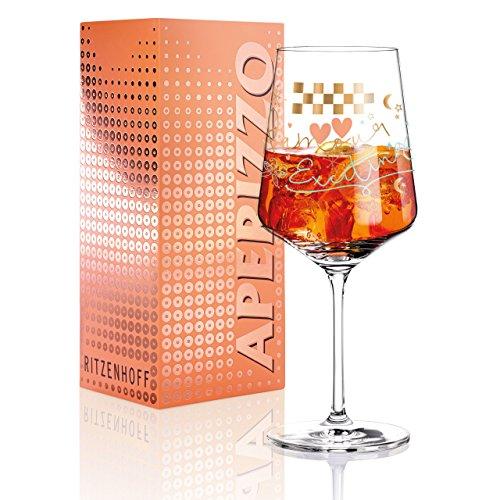 RITZENHOFF Aperizzo Aperitifglas von Véronique Jacquart , aus Kristallglas, 600 ml, mit edlen Goldanteilen