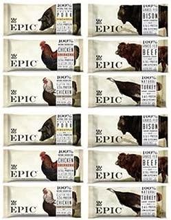 Epic Bar Sampler 6 variety- (2 Bison Bacon Cranberry,2 Beef Habanero Cherry, 2 Chicken Sriracha , 2 Turkey Almond Cranberry, 2 Pulled pork Pineapple, 2 Chicken Sesame BBQ)