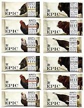 Epic Bar Sampler 6 variety- (2 Bison Bacon Cranberry,2 Beef Habanero Cherry, 2 Chicken Sriracha , 2 Turkey Almond Cranberr...