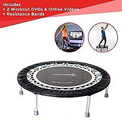 Des rebonds de mini-trampoline professionnel de haute qualité utilisés par beaucoup de nos meilleurs athlètes stars du sport et des célébrités. Idéal pour l'entraînement de fitness, la perte de poids, unt pour le ski fitness. Trampoline indoor pour jumping fitness. jusqu'à 140kg