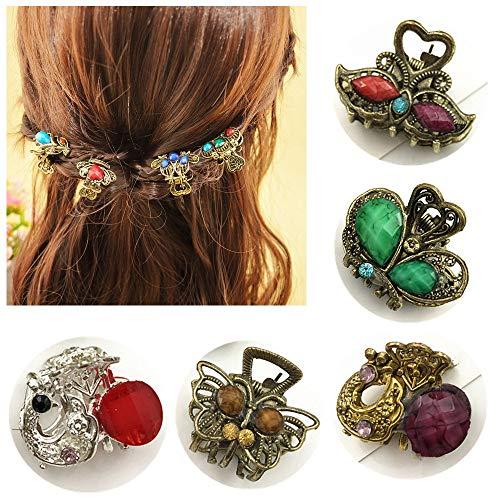 Mini-Haarklammer, Schmetterlings-Design, Metall, 10/20 Stück