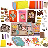 PICKME Cherish Greeting Card Making Kit   Make Your Own Cards Set with Beautiful Assortment of Art Characters & Envelopes   Gift Making Kit   Create Your Personalized Birthday Card & Thank You Card