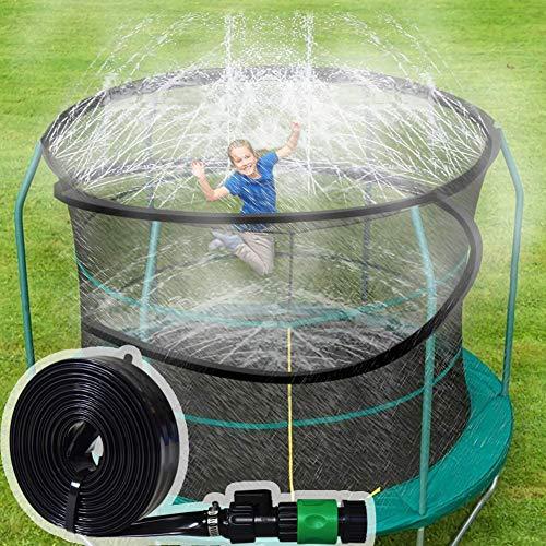 ARTBECK Trampoline Sprinkler, Outdoor Trampoline Water Play Sprinklers for Kids, Fun Water Park Summer Toys Trampoline Accessories (Length-39 ft, Sprinkler-4)