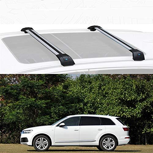Nologo Lega di Alluminio Portapacchi Croce Roof Bar Cargo Bar Compatibile con Q7 2010-19 (Size : for Audi Q7 2018)