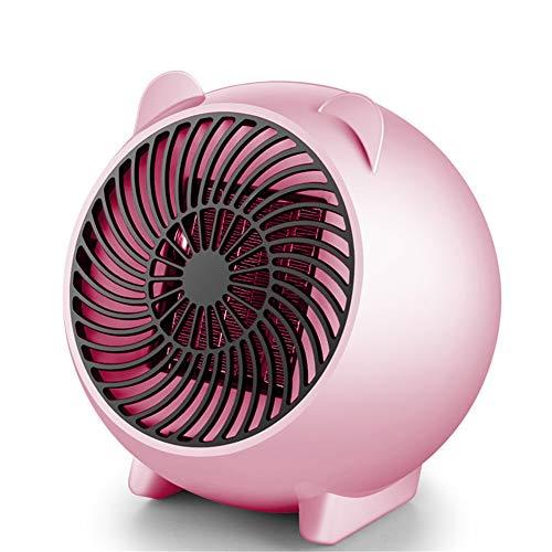 Eight Horses-T Spazio Fan Heater, Personale Mini Stufetta elettrica Portatile termoventilatori con PTC in Ceramica Elemento riscaldante e Protezione surriscaldamento per Ufficio, casa,Rosa
