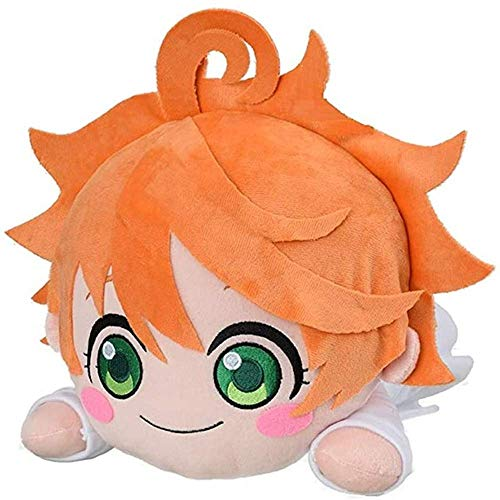 xiaoxiao The Promised Neverland mega Jumbo Nesoberi Stuffed Toy Doll Soft Plush Emma & Anime & Norman A Birthday Present for a Child (Emma)