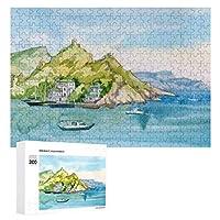 山に囲まれた海岸 300ピースのパズル木製パズル大人の贈り物子供の誕生日プレゼント