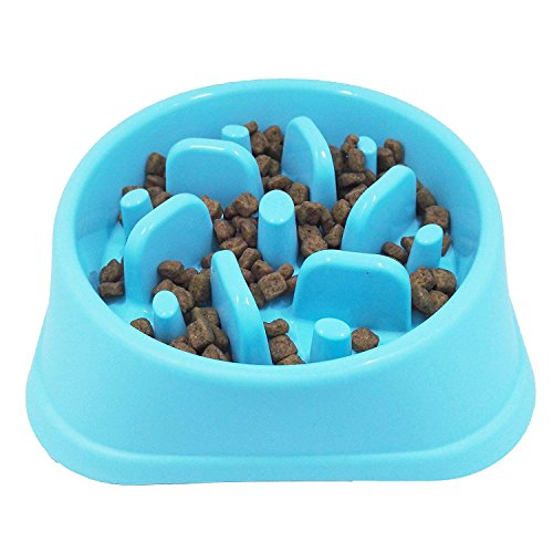 Txyk Ciotola ad Alimentazione lenta – Mangiatoia Labirinto Cibo e Acqua per Cani interattiva e Divertente, per la Perdita di Peso, previene Lo strozzamento degli Animali Domestici 20CM Blu