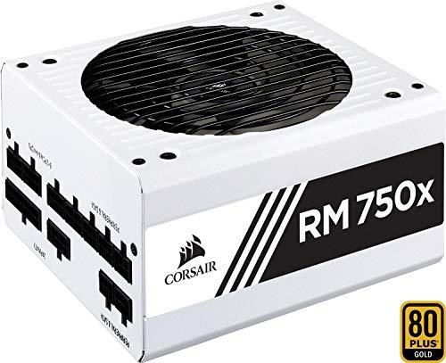 Corsair RM750x PC-Netzteil (Voll-Modulares Kabelmanagement, 80 Plus Gold, 750 Watt, EU) weiß