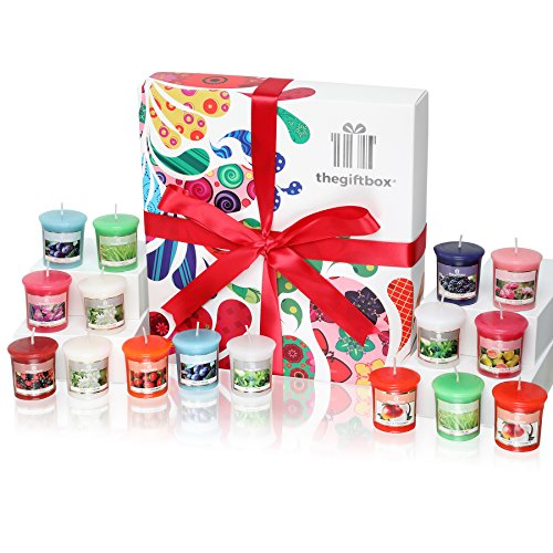 Sweetbeam Luxury Candle Gift Set with 16 Scented Wax Candles. Scented Candles Gift Sets Are Ideal Birthday Gifts for Women, Great Gifts for Her or Perfect Women's Gifts