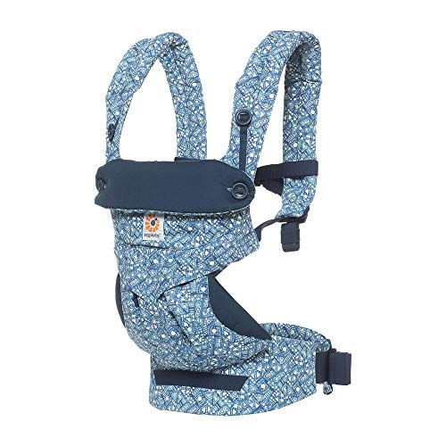 Ergobaby - Sac à dos porte-bébé 360 ergonomique et facile à utiliser. Couleur multicolore (Batik Indigo)