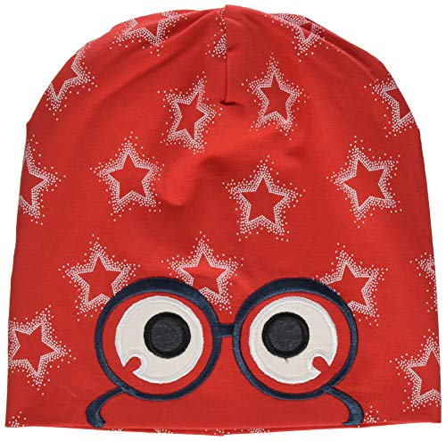 Fred's World by Green Cotton Girls Star peep Beanie Hat, Traffic red, 104/110