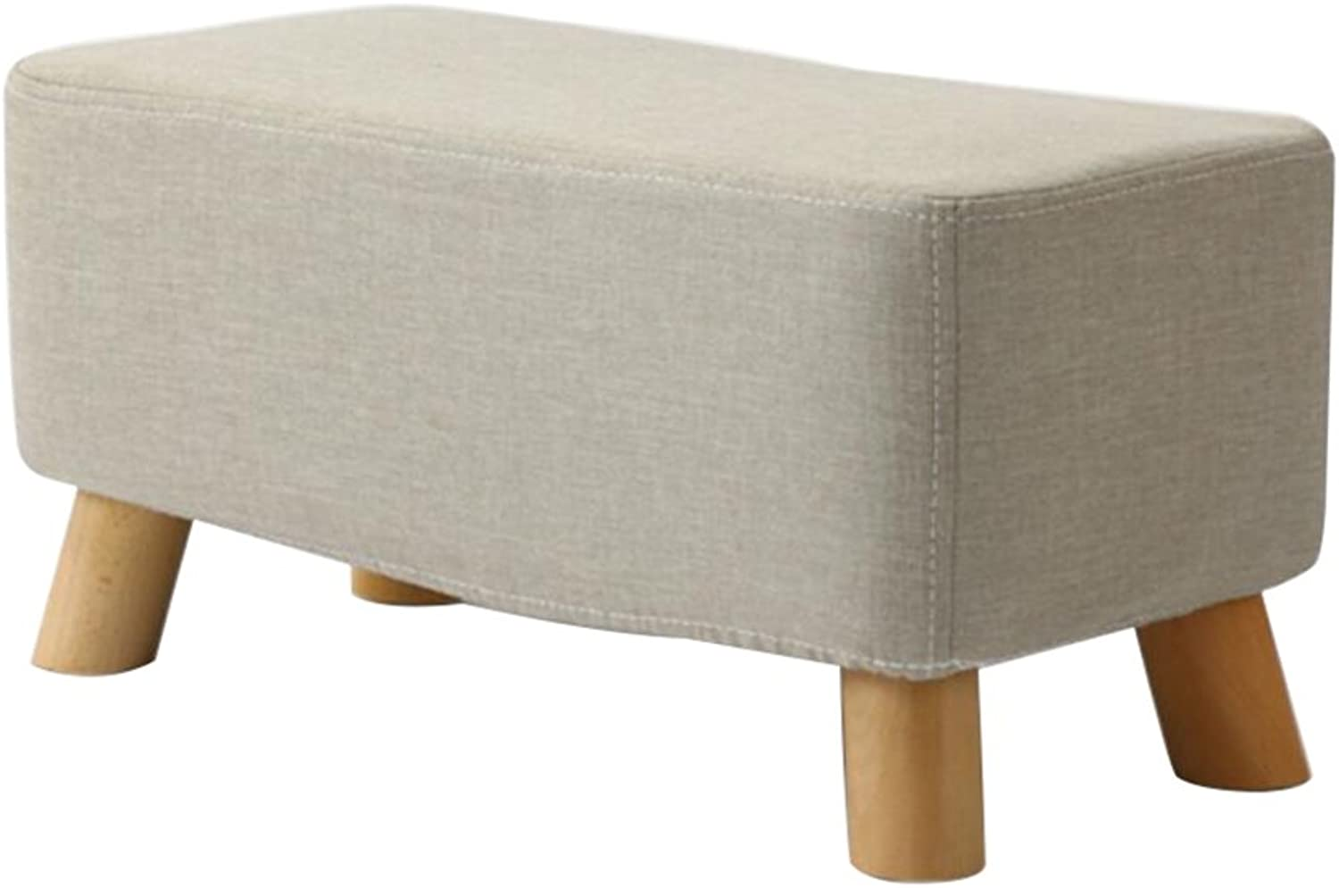 HQCC Bench Living Room Solid Wood Stool Simple Creative wear shoes Bench Fabric Sofa Bench Rectangular pier (color    2)