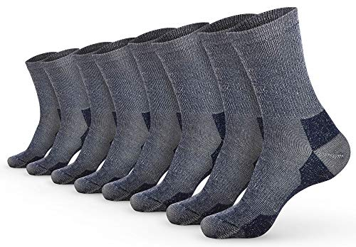Pembrook Wool Trail Socks – S/M (4-Pack Navy) - Soft, Warm, Thermal Merino Wool – Great for hiking, work, skiing, hunting. Sized for Men and Women